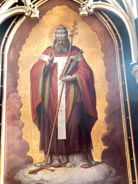 Painting of Pope Saint Sixtus II. by Leopold Schulz 1858. Photo by Wolfgang Sauber.