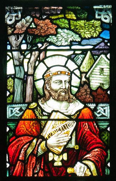 Stained glass window at St. Brigid's Cathedral, Kildare, Ireland. Photo by Andreas F. Borchert.