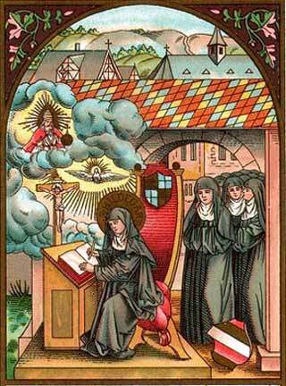 St. Hildegard and her nuns