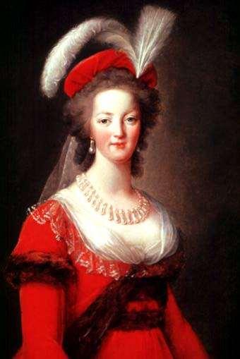 Marie Antoinette by Vigee Le Brun.