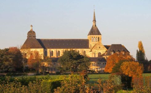 Photo of Fleury Abbey by Gilbertus. The Abbey is in Saint-Benoît-sur-Loire, France, founded about 640. It possesses the relics of St. Benedict of Nursia.