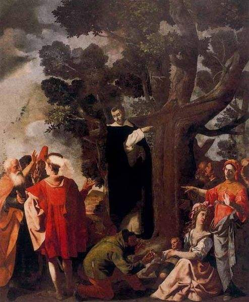 The Cross on the Tree, Miracle of Saint Louis Bertrand, Painted by Jerónimo Jacinto de Espinosa.