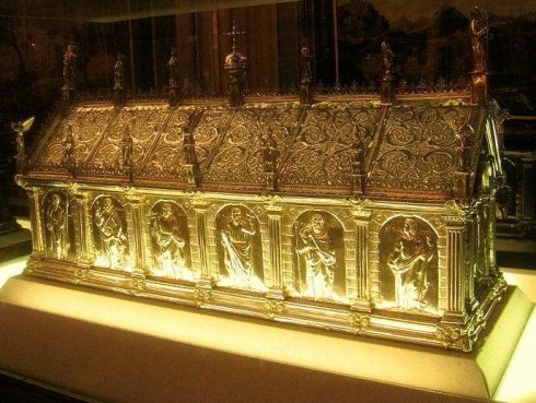 The reliquary of St. Eligius in Bruges, Belgium.