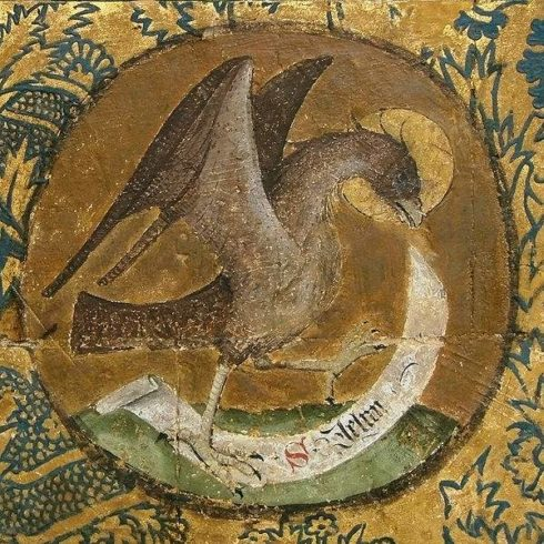 An Eagle: The symbol of St. John the Evangelist.
