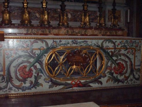 The tomb of Saint Gregory of Nazianzus in St. Peter's in Rome.