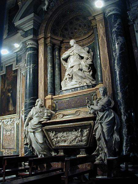 The tomb of Pope Benedict XIII