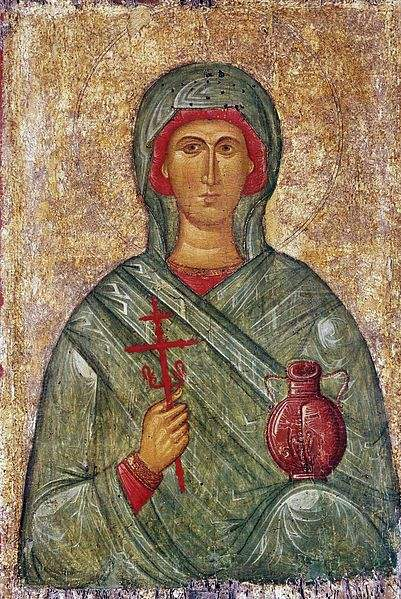 Byzantine Icon of St. Anastasia of Sirmium at the State Hermitage Museum, Saint Petersburg, Russia.
