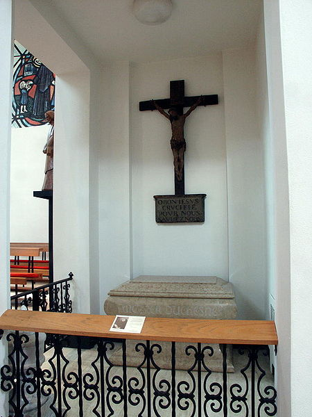 Grave of Mother Duchesne, in the Shrine of St. Philippine Duchesne, St. Charles, Missouri.