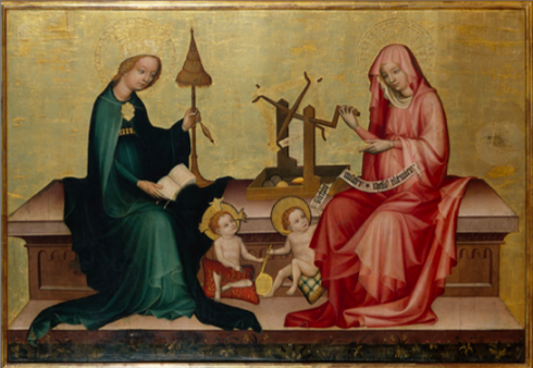 The Blessed Virgin Mary and St. Elizabeth with Our Lord and St. John the Baptist.