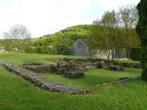 Monastery ruins of the Annegray Priory founded by Saint Columban in 595.