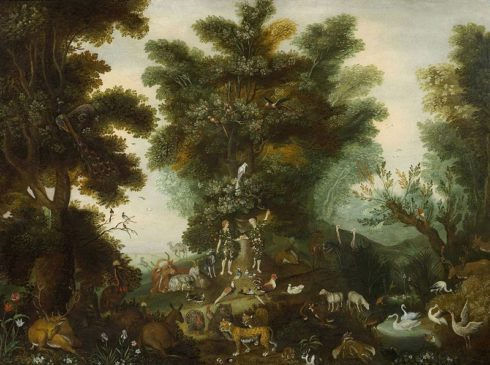 Adam and Eve in Paradise, painted by Jan Brueghel the Younger.