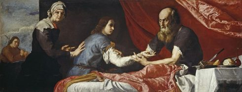 Isaac Blessing Jacob, painted by José de Ribera