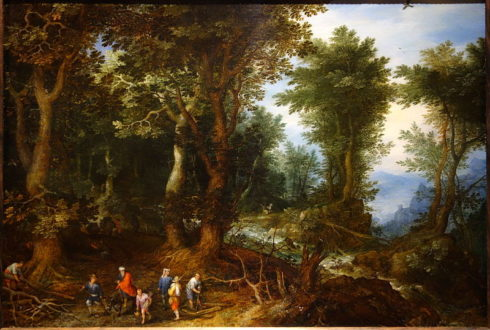 Wooded Landscape with Abraham and Isaac, by Jan Brueghel the Elder.