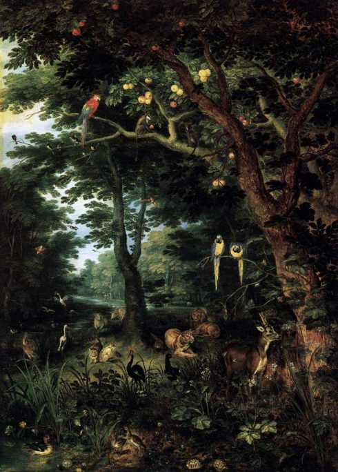 Paradise by Jan Brueghel the Younger.