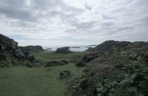 Looking towards St. Columba's Bay at Iona (island), Scotland.