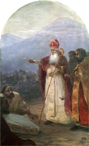 The Baptism of the Armenian People by St. Gregory the Illuminator. Painted by Ivan Aivazovsky.