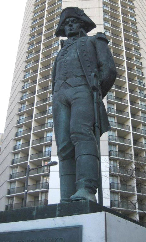 General Thaddeus Kosciuszko statue, 18th & Benjamin Franklin Parkway, in Philadelphia. A gift to Polish Americans from the People of Poland.