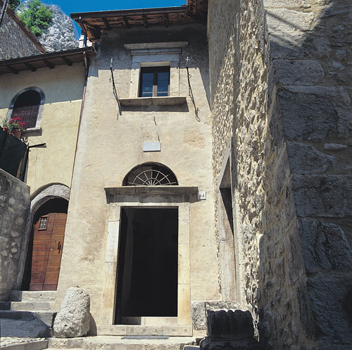 Saint Rita's birthplace at Roccaporena, near Spoleto, Italy.