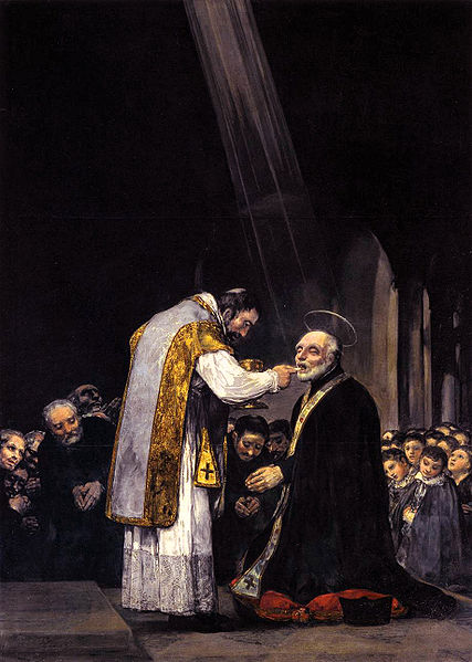 The Last Communion of St. Joseph Calasanz, painted by Goya.