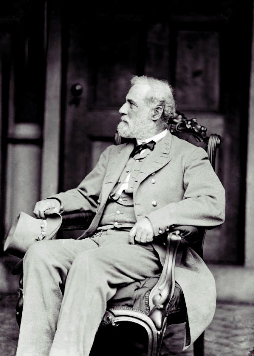 Lee sitting, photographed in 1865