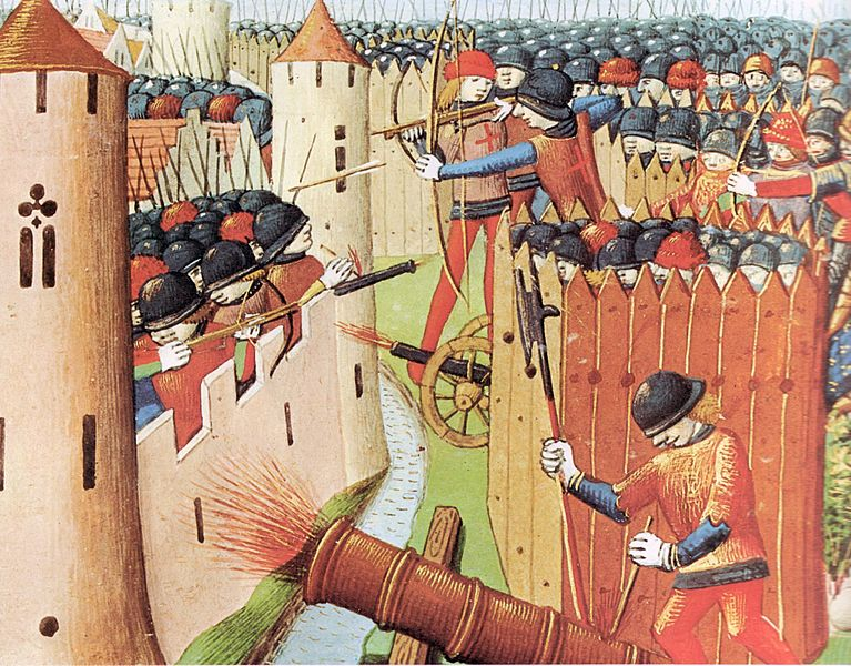 The first European image of a battle with cannons: the Siege of Orleans in 1429.