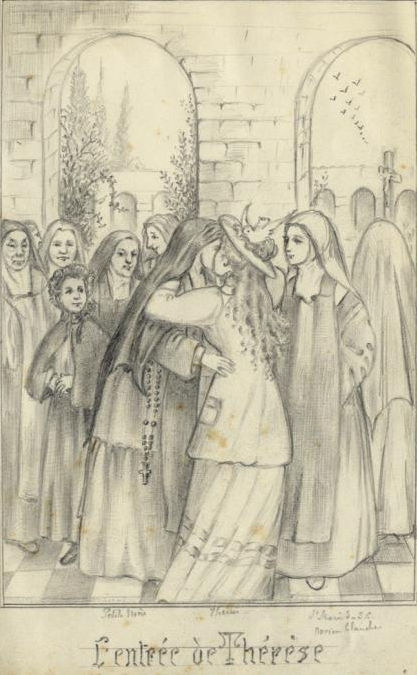 St. Thérèse welcomed into the cloister