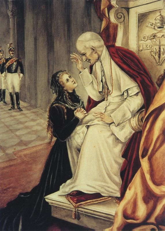 St. Therese of Lisieux audience with Pope Leo XIII.