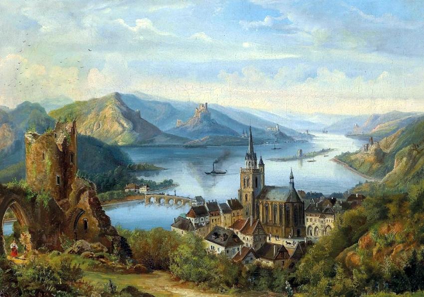 View of Jílové by Ferdinand Lepie
