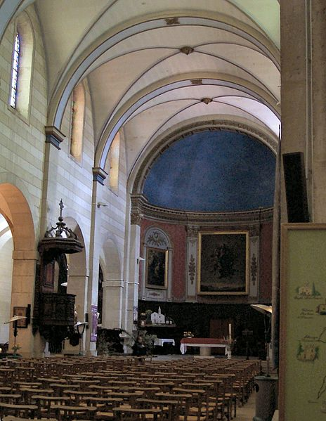 Église Notre-Dame de l'Assomption de Riez. Interior of Riez Cathedral.