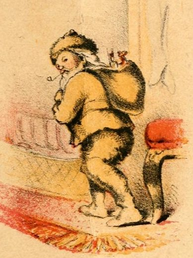 Illustration from the 1864 edition of Clement Moore's poem A Visit from St. Nicholas.