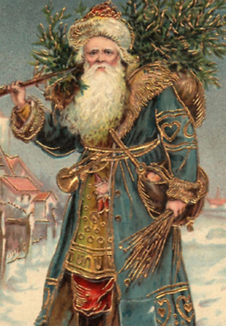 Victorian depiction of Father Christmas.